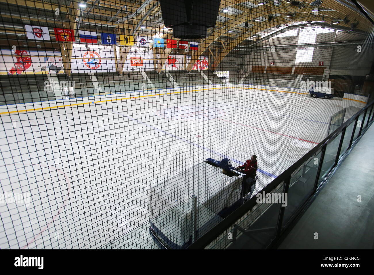 Yaroslavl, Russia. 1st Sep, 2017. Ice hockey arena at State Olympic Reserve Ice Hockey School facilities. Credit: Vladimir Gerdo/TASS/Alamy Live News - Stock Image