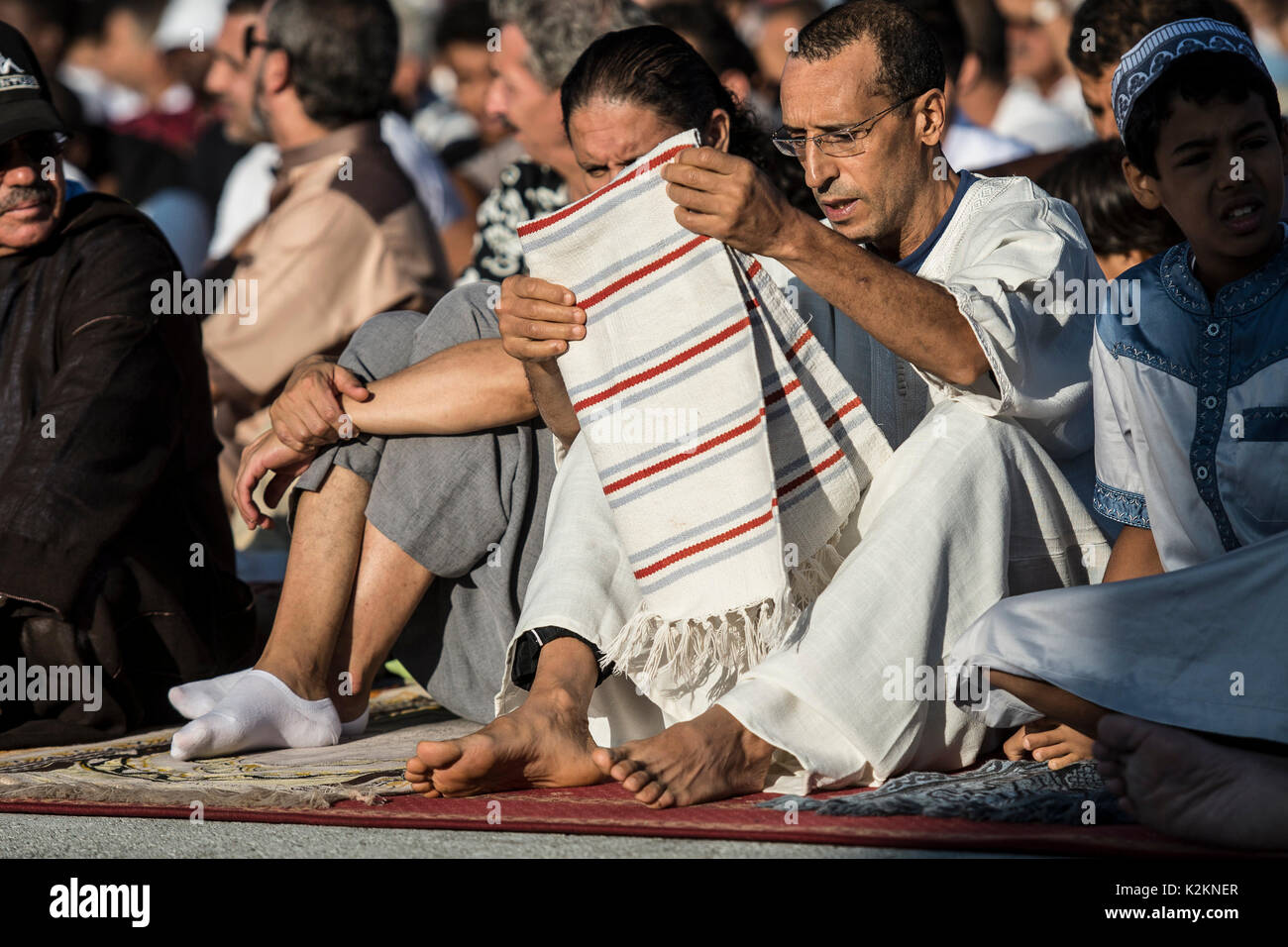 Turin, Piedmont, Italy. 1st Sep, 2017. Turin, Italy - September 1, 2017: Islamic Sacrifice Festival at Dora Park Stock Photo