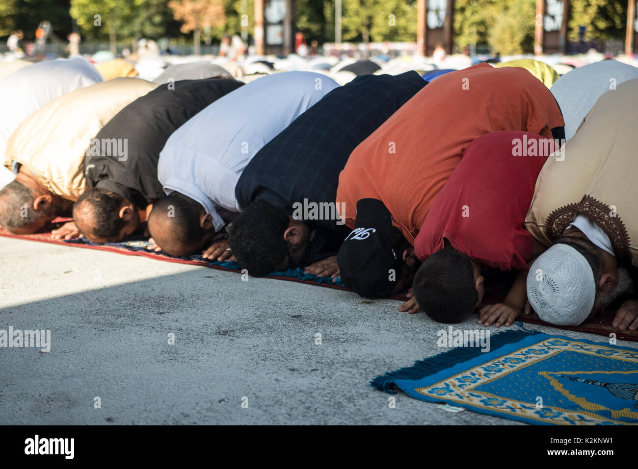 Turin, Piedmont, Italy. 1st Sep, 2017. Turin, Italy - September 1, 2017: Islamic Sacrifice Festival at Dora Park Stock Photo