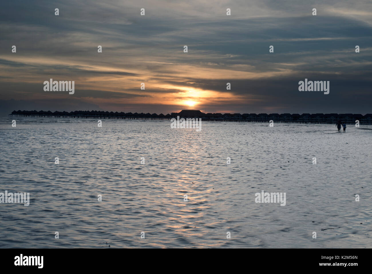 Sunset at Beach - Stock Image