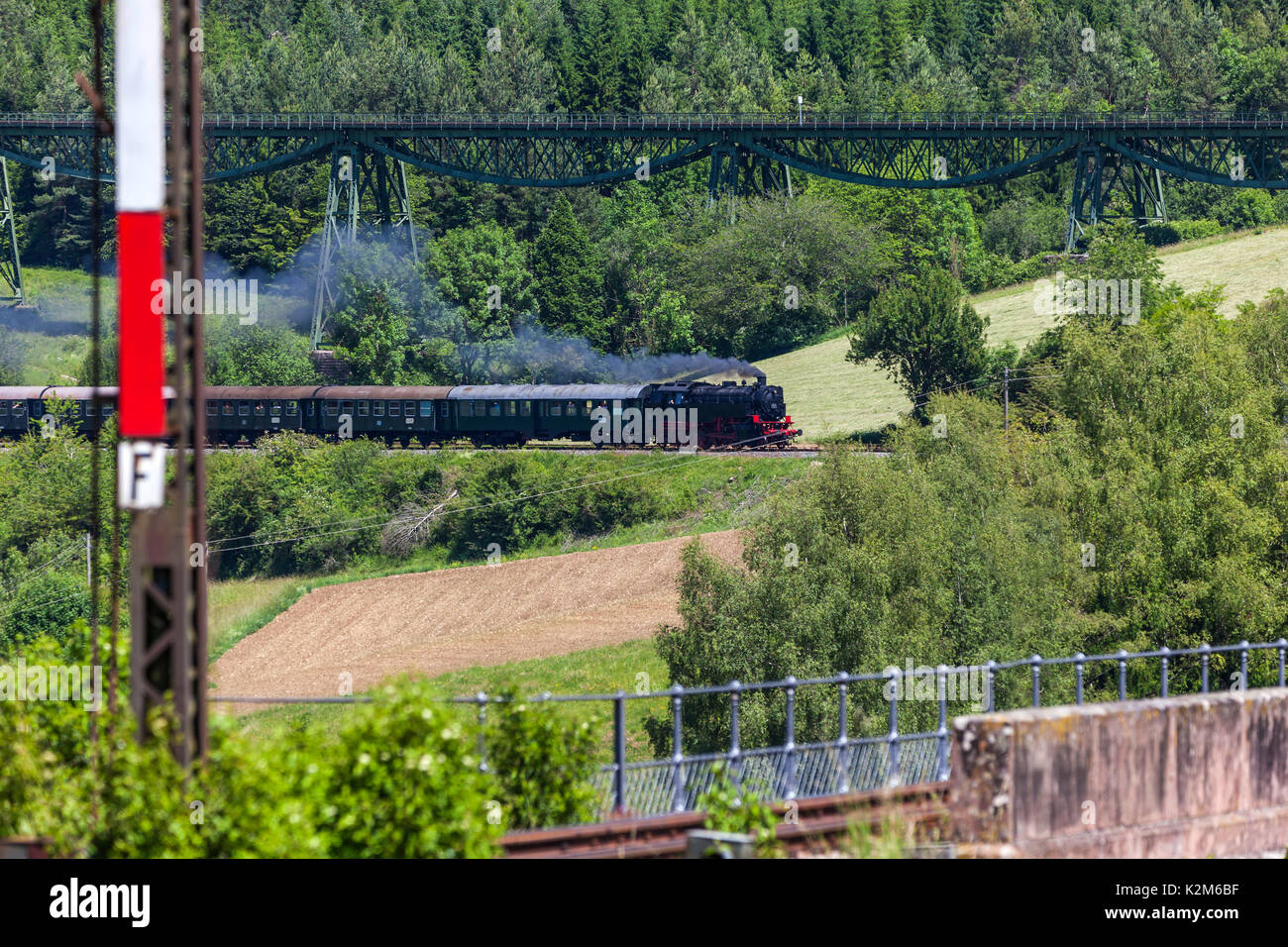 Historic railway Sauschwaenzlebahn, Black Forest. - Stock Image