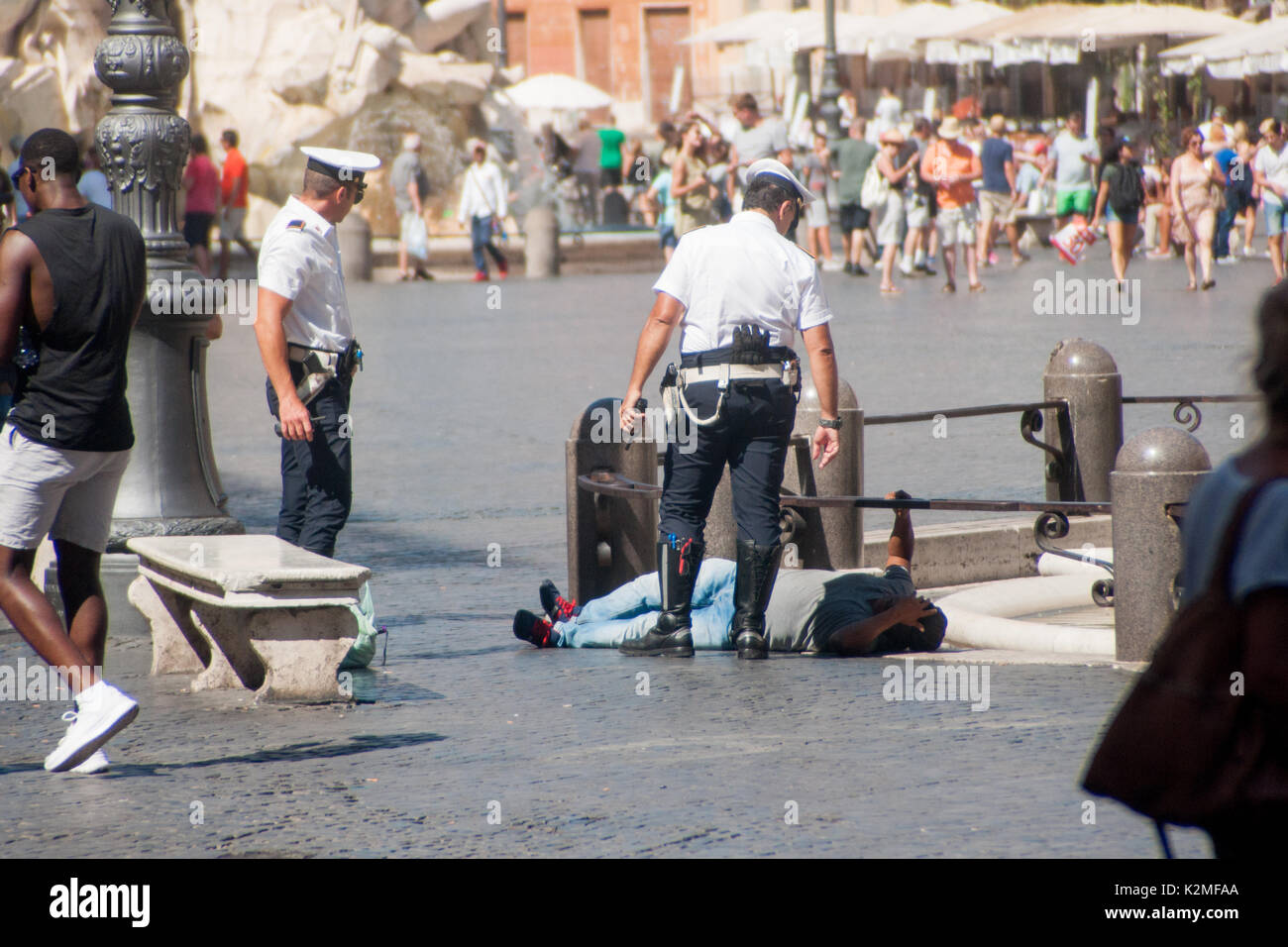 The government in Rome has asked regional authorities to provide new beds for migrants who are arriving on a daily basis in Italy - Stock Image
