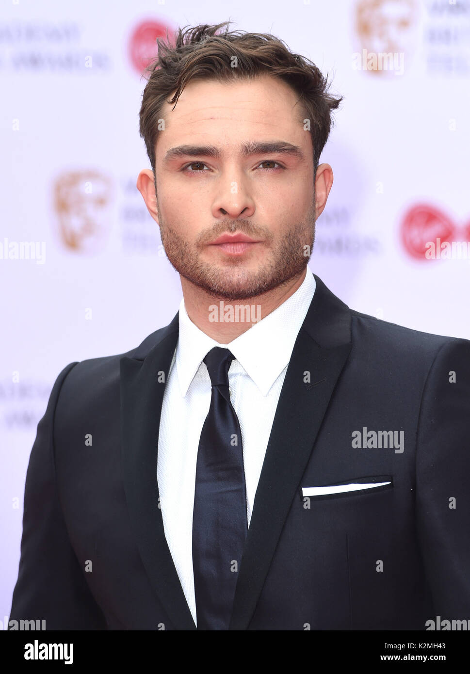 Photo Must Be Credited ©Alpha Press 079965 14/05/2017 Ed Westwick Virgin TV British Academy Television Bafta Awards 2017 at Royal Festival Hall London - Stock Image