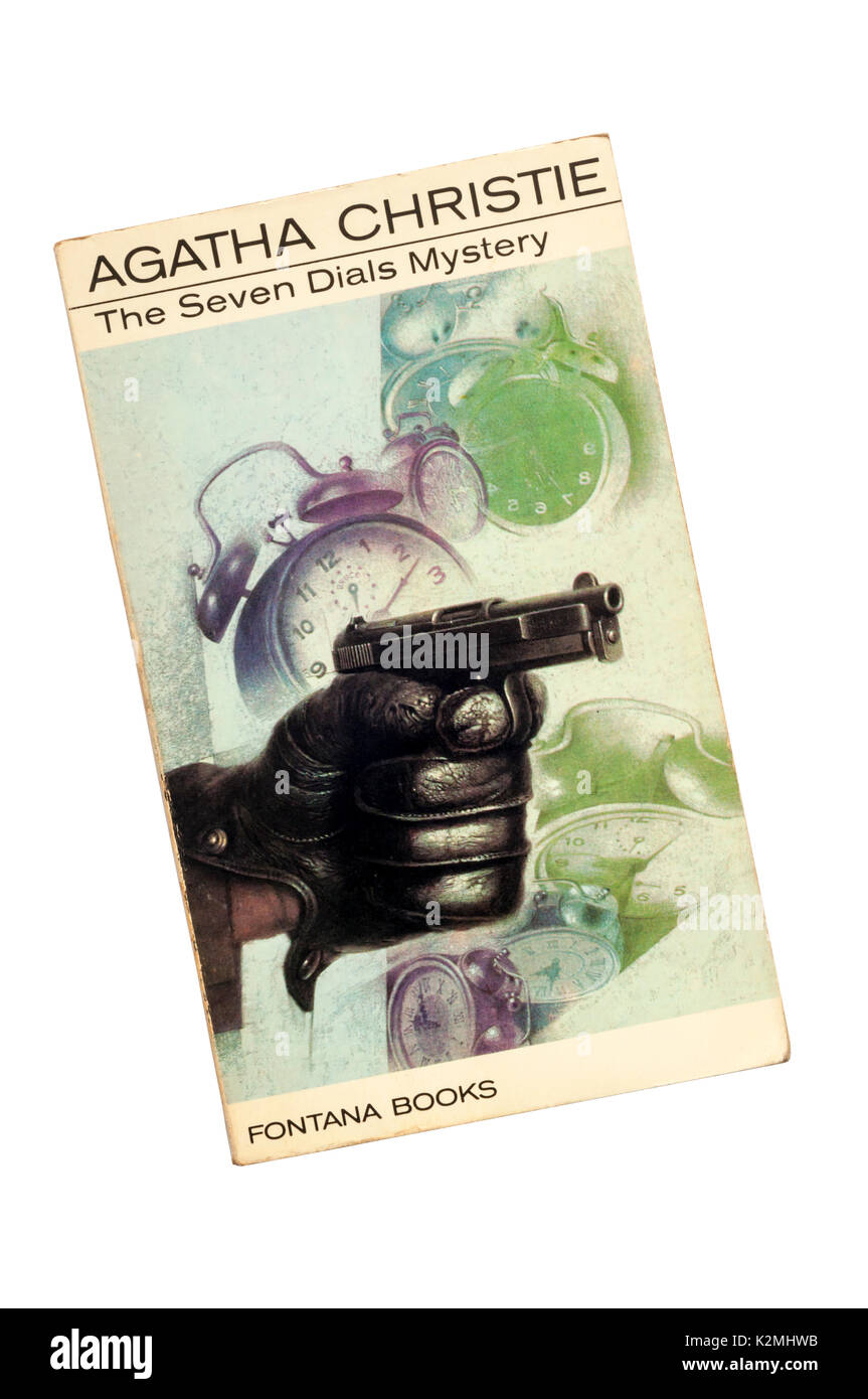 Collins paperback edition of The Seven Dials Mystery by Agatha Christie.  First published in 1929. - Stock Image