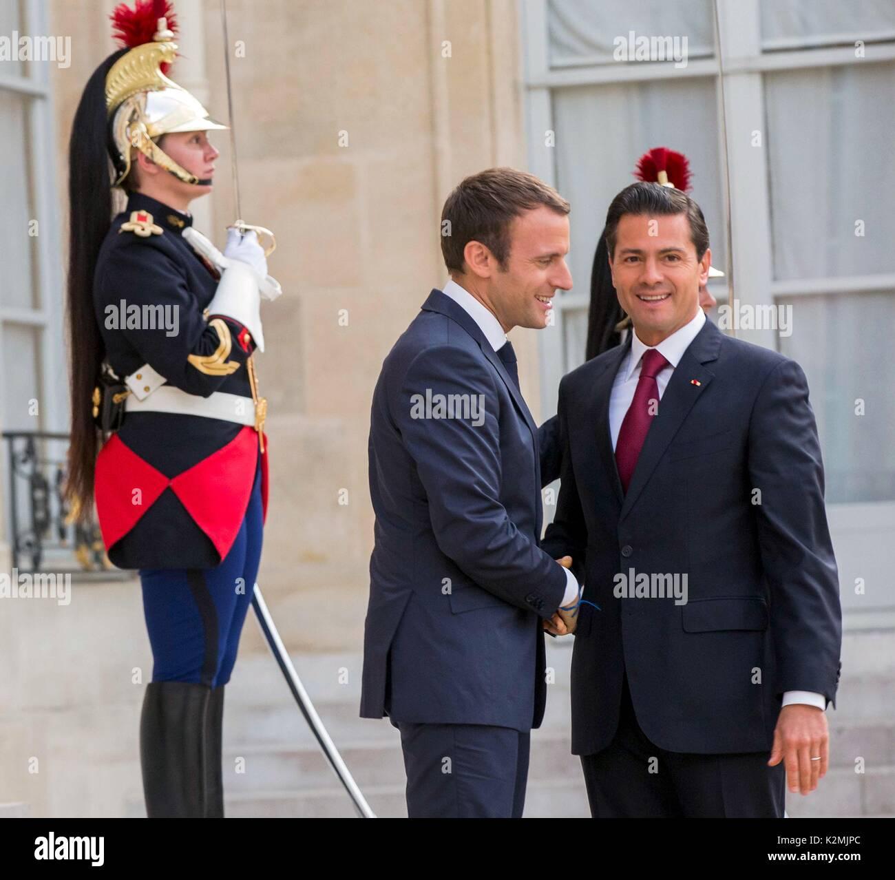French President Emmanuel Macron Welcomes Mexican President Enrique Pena  Nieto 8fc52ad300b