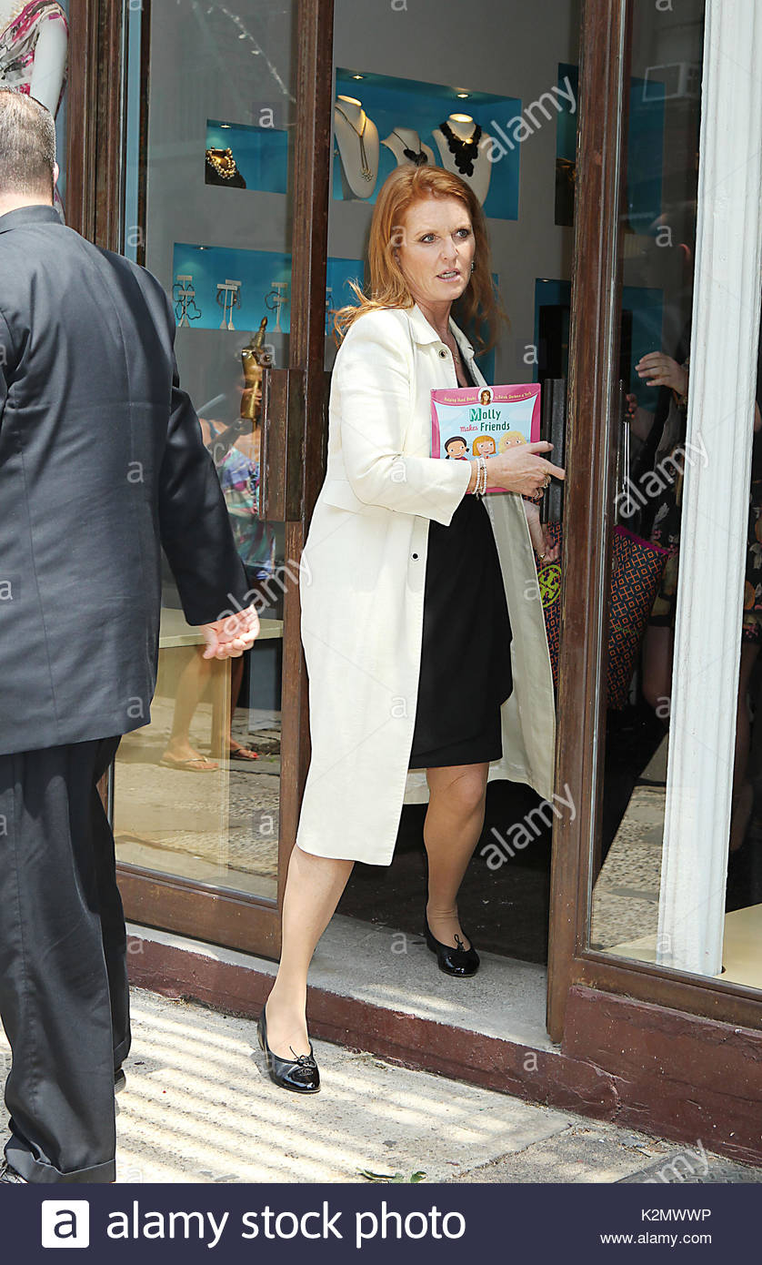 Sarah Ferguson. After a busy morning of promoting her new show for ...