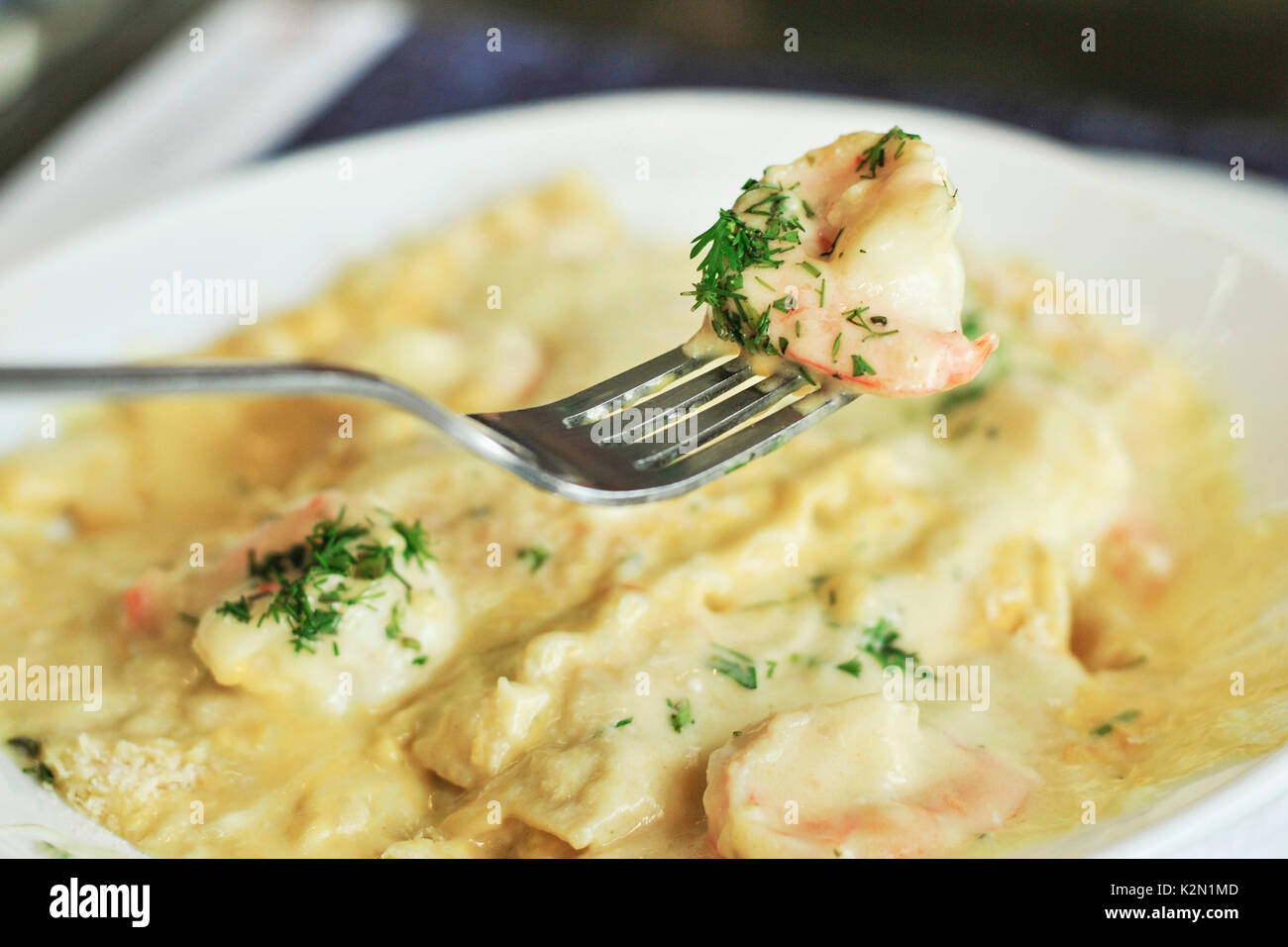 Cuisine of ecuador stock photos cuisine of ecuador stock images shrimp lasagna whit huancaina sauce peruvian restaurant guayaquil ecuador stock image forumfinder Gallery