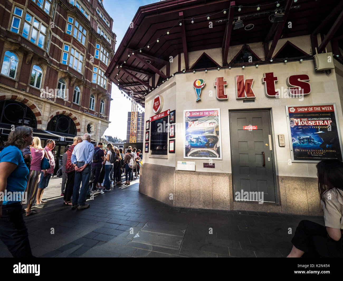 TKTS booth in Leicester Square London's Theatre District
