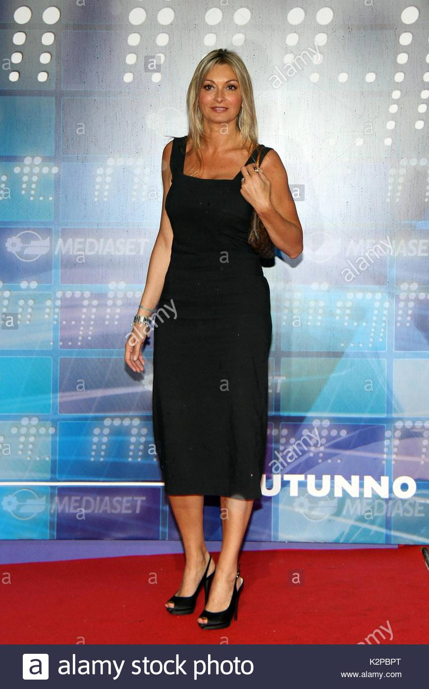 Monica Vanali Celebrities Attend The Mediaset Tv Schedule Stock