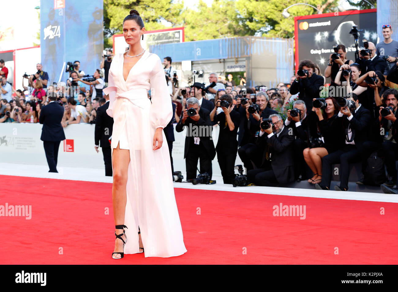 Venice, Italy. 30th Aug, 2017. Bianca Balti attending the 'Downsizing' premiere and opening of the 74th Venice International Film Festival at the Palazzo del Cinema on August 30, 2017 in Venice, Italy. Credit: Geisler-Fotopress/Alamy Live News - Stock Image