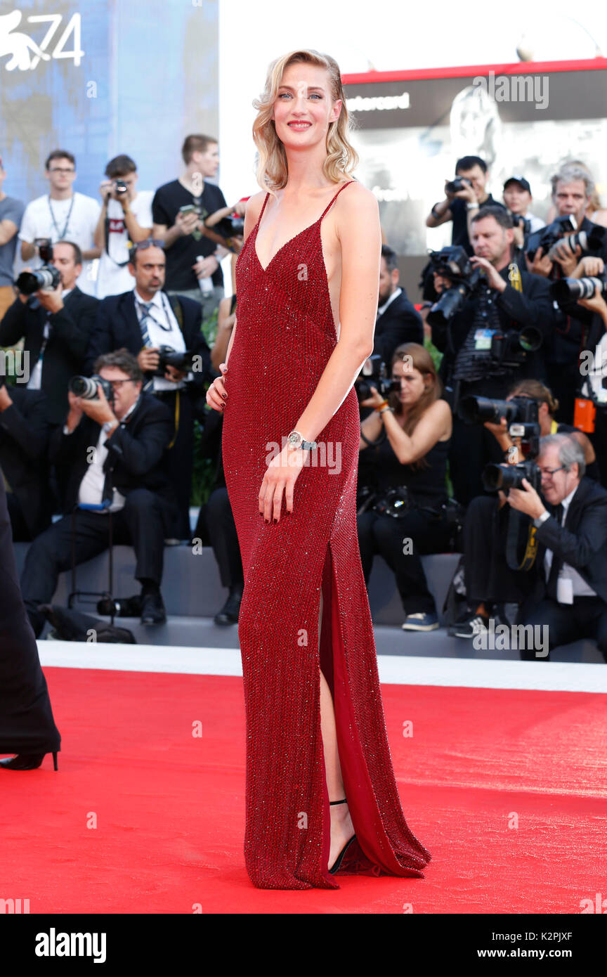 Venice, Italy. 30th Aug, 2017. Eva Riccobono attending the 'Downsizing' premiere and opening of the 74th Venice International Film Festival at the Palazzo del Cinema on August 30, 2017 in Venice, Italy. Credit: Geisler-Fotopress/Alamy Live News - Stock Image
