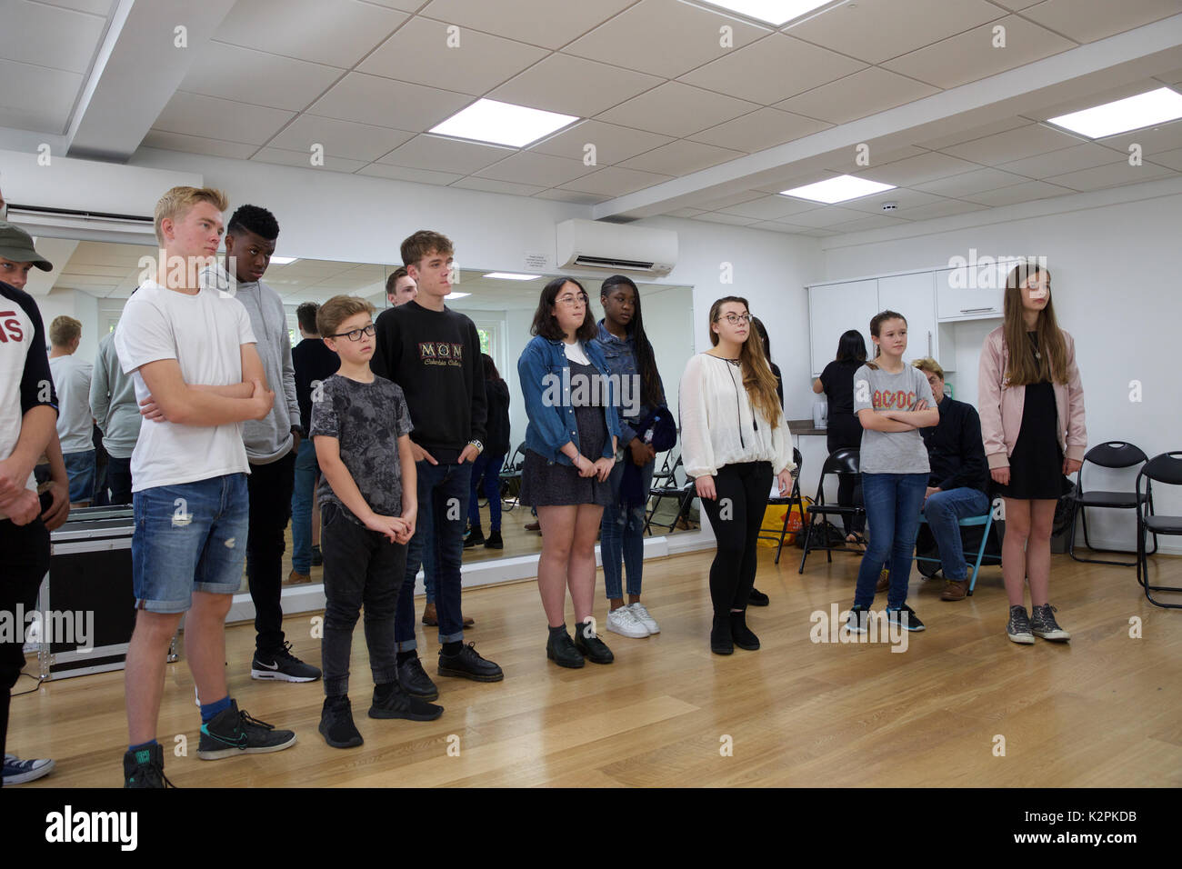 London, UK. 31st Aug, 2017. London's top young buskers took part in a boot camp with music industry experts at the Umbrella Rooms music studios in the heart of the West End before going head-to-head at the Gigs Grand Final at Westfield this Sunday. Twelve competitors have made it through to the Grand Final, where they will battle it out for the title of Gigs Champion 2017 and a range of top prizes including a London Underground busking licence, studio time and busking equipment and a busking trip to Paris Credit: Keith Larby/Alamy Live News Stock Photo