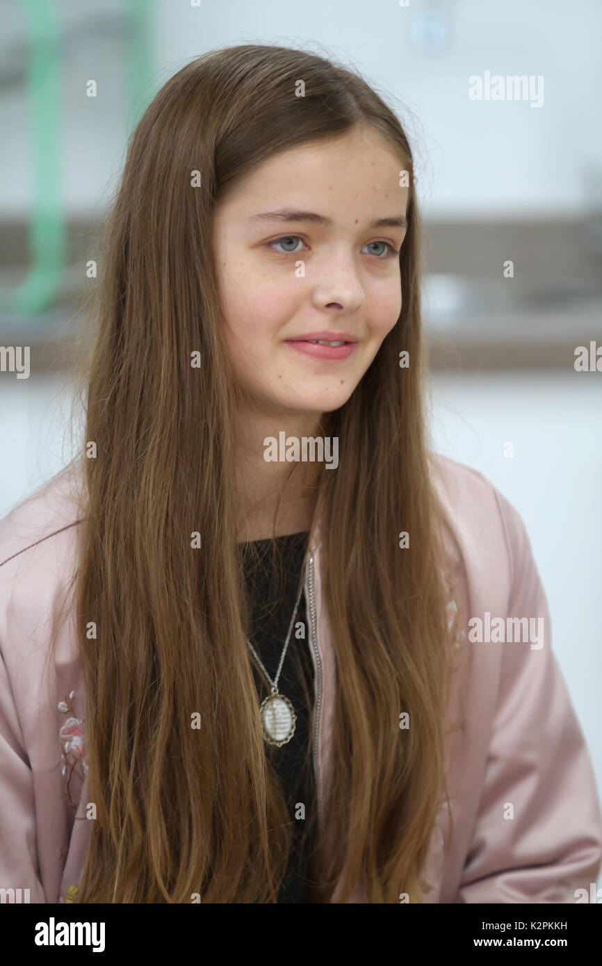 London,UK,31st August 2017,Josephine Shaw joined London's top young buskers who took part in a boot camp with music industry experts at the Umbrella Rooms music studios in the heart of the West End before going head-to-head at the Gigs Grand Final at Westfield this Sunday. Twelve competitors have made it through to the Grand Final, where they will battle it out for the title of Gigs Champion 2017 and a range of top prizes including a London Underground busking licence, studio time and busking equipment and a busking trip to Paris©Keith Larby/Alamy Live News Stock Photo