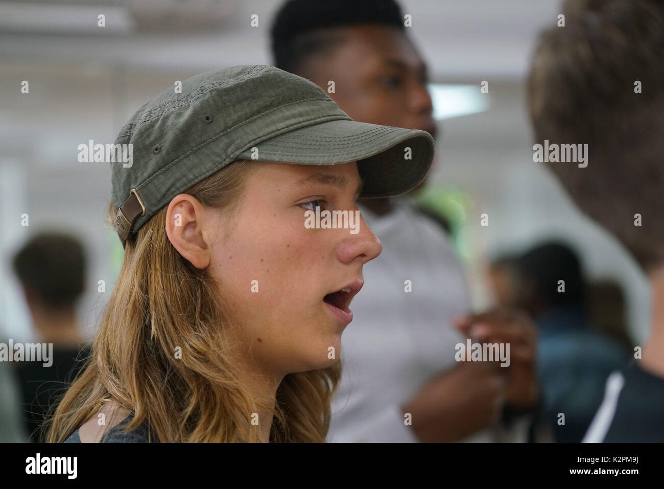 Shaftesbury Ave, London, England, UK. 31st Aug, 2017. Roadstead, preparing for Mayor's Gigs competition at the Umbrella Rooms music studios before going head-to-head at the Gigs Grand Final over the weekend. Credit: See Li/Alamy Live News Stock Photo