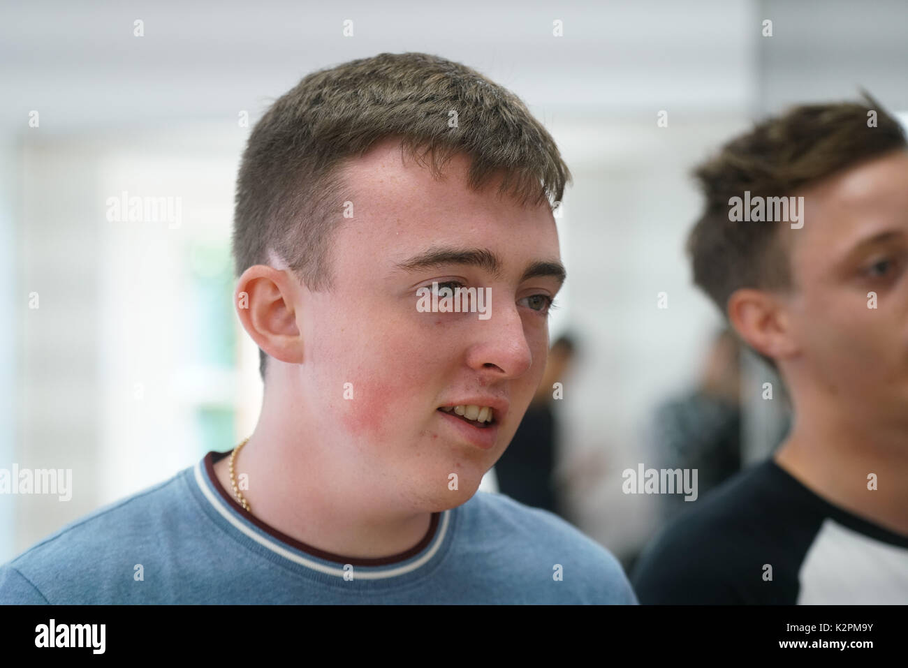 Shaftesbury Ave, London, England, UK. 31st Aug, 2017. Jamie Wooding, preparing for Mayor's Gigs competition at the Umbrella Rooms music studios before going head-to-head at the Gigs Grand Final over the weekend. Credit: See Li/Alamy Live News Stock Photo
