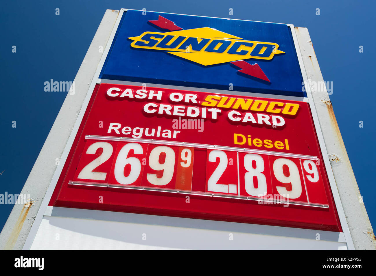 Gas Prices In Florida >> Tequesta Florida Usa 31st Aug 2017 Gas Prices On The Rise In