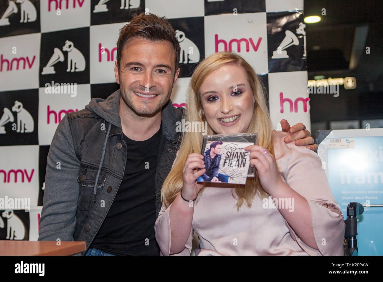 HMV Shop, High Street, Belfast, Northern Ireland  31st August 2017
