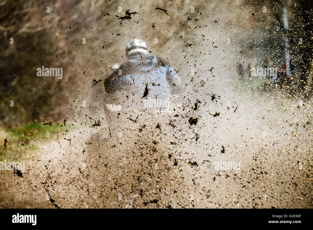 Off road bike on competition - Stock Image