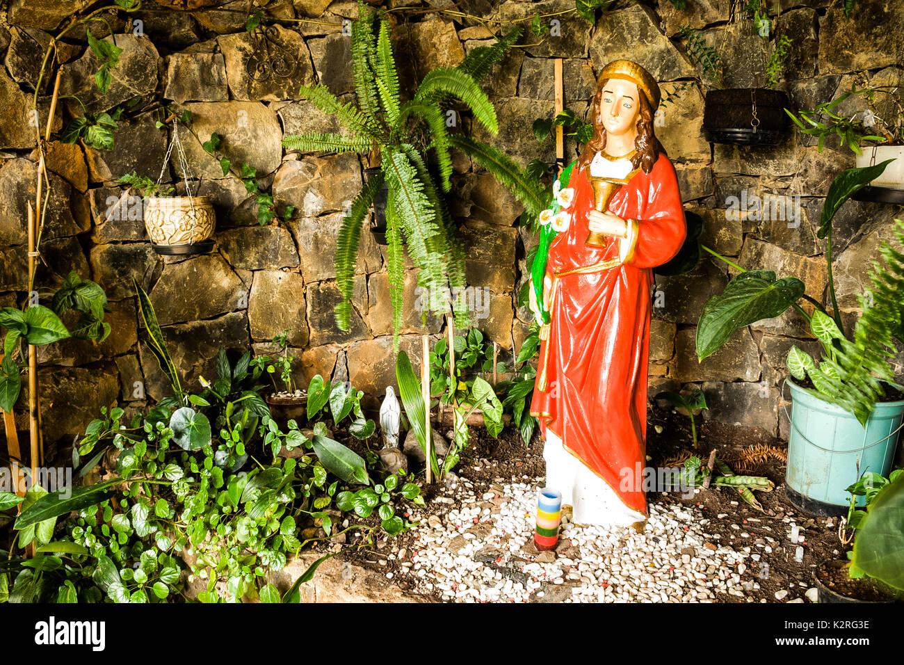 Santa Luzia Sanctuary at Santa Lucia Square. Novo Horizonte, Santa Catarina, Brazil. Stock Photo