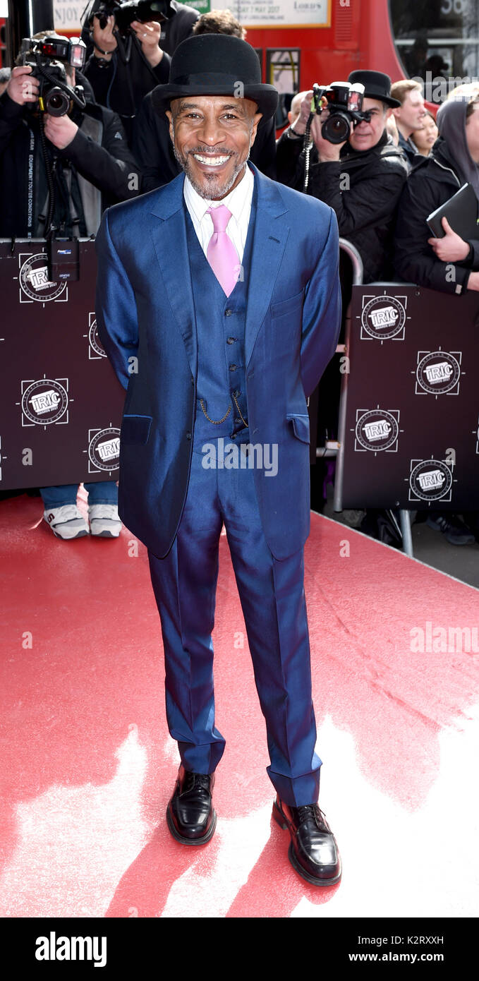 Photo Must Be Credited ©Alpha Press 079965 14/03/2017 Danny John Jules The Tric Awards 2017 at The Grosvenor House Hotel London - Stock Image