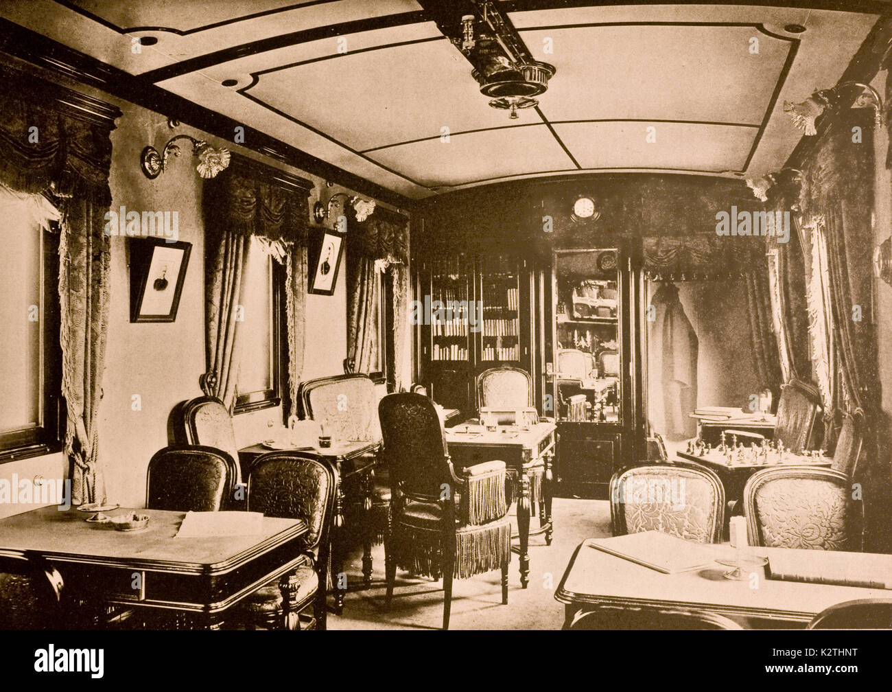 Russia early '900 Trans-Siberian Hall of the Siberian train room of the conversations Stock Photo