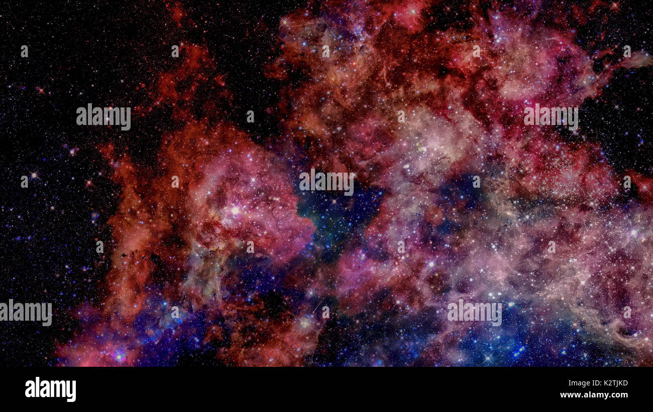 Starry outer space background texture. Elements of this image furnished by NASA. - Stock Image