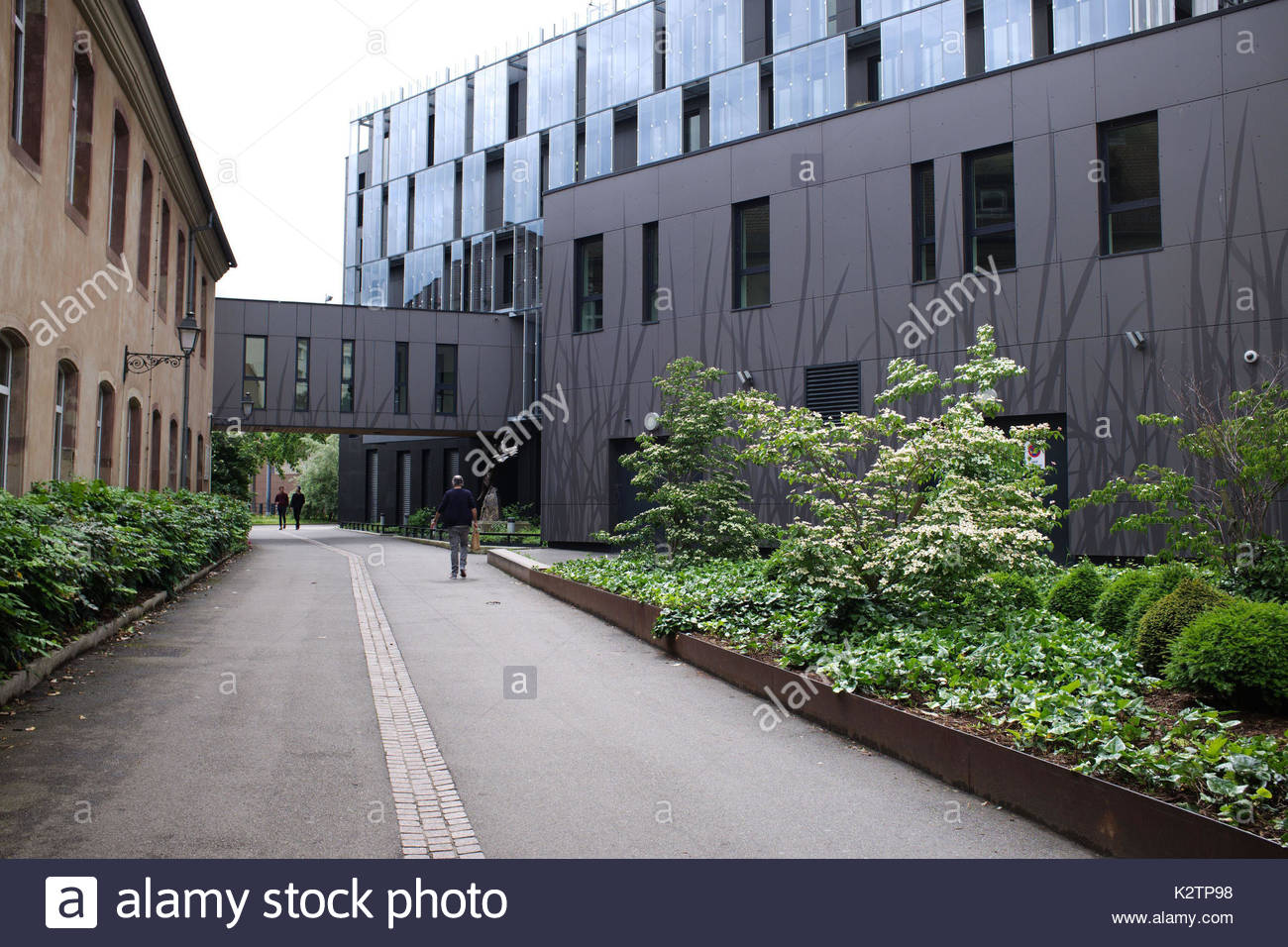 France, Alsace, Bas Rhin, Strasbourg, l'entree de l'Ecole National d'Administration, ENA, cree par Charles de Gaulle Stock Photo