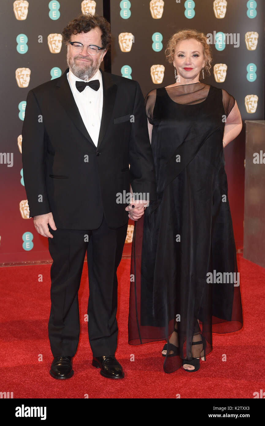 Photo Must Be Credited ©Alpha Press 079965 12/02/2017 Kenneth Lonergan and J Smith Cameron EE Bafta British Academy Film Awards  2017 at The Royal Albert Hall London - Stock Image