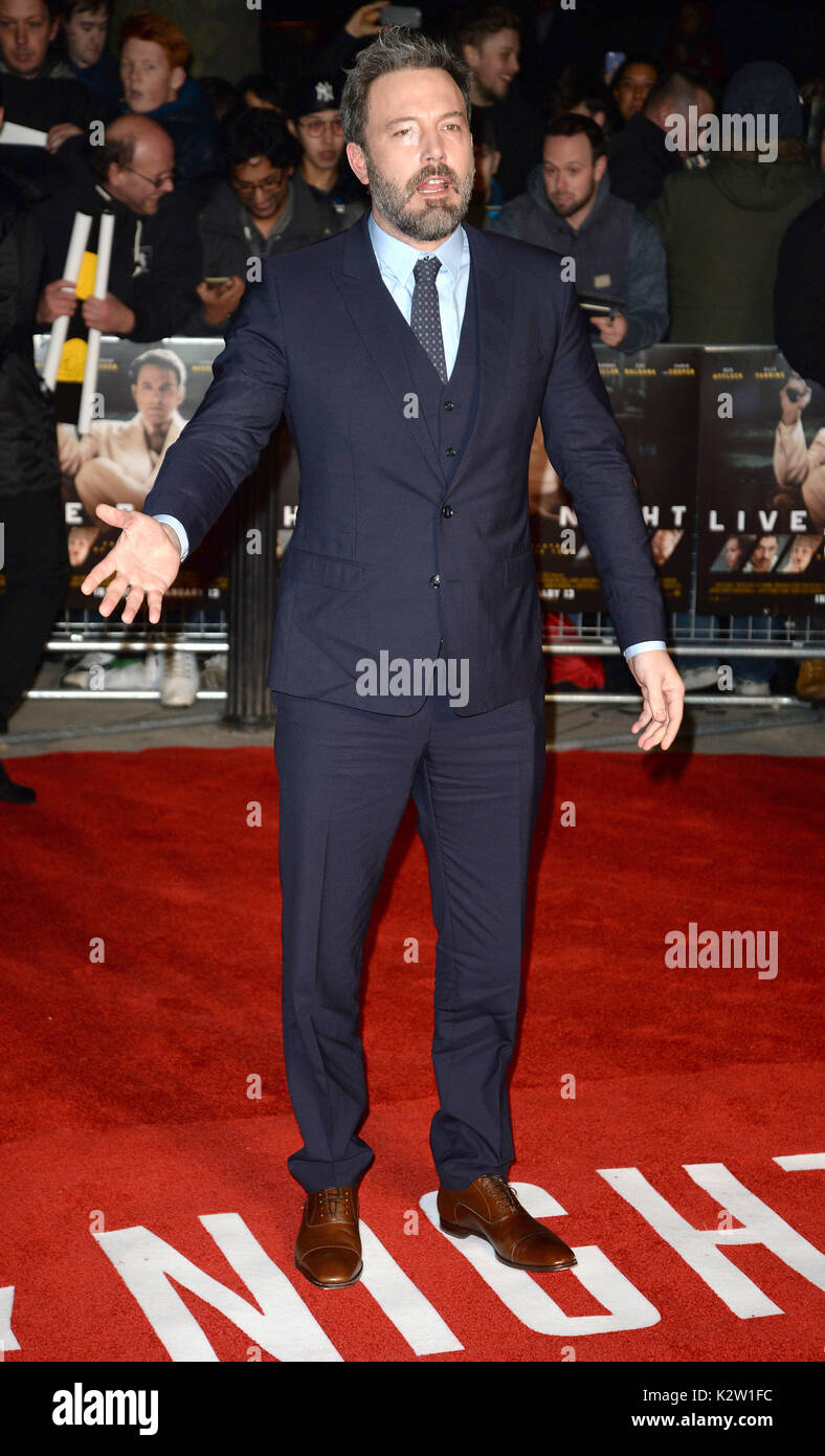 Photo Must Be Credited ©Alpha Press 078237 11/01/2017 Ben Affleck Live By Night European Premiere BFI Southbank London - Stock Image