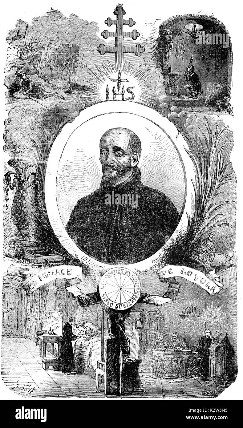 St. Ignatius of Loyola, 1491 - 1556, founder of the Jesuits - Stock Image