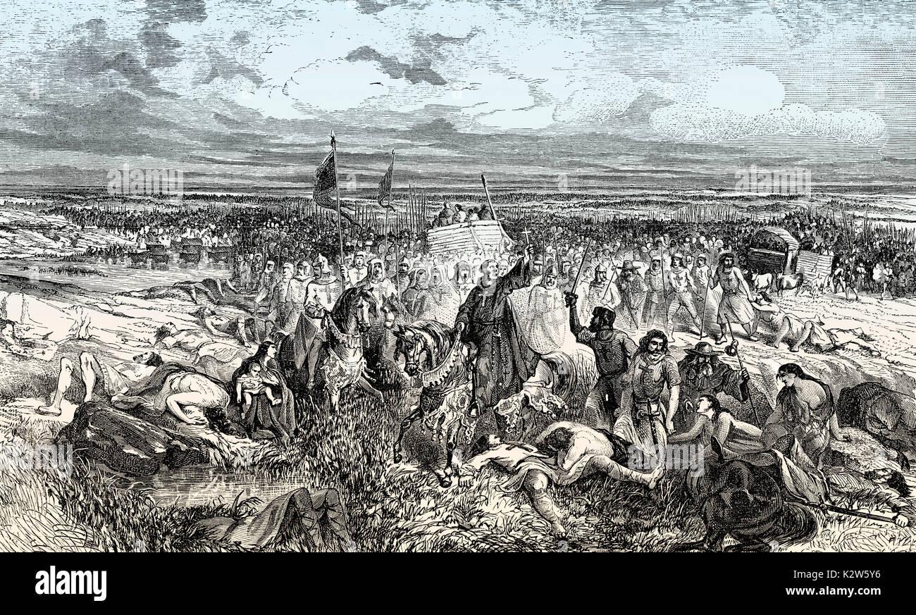 Crusade in Palestine, 11th century - Stock Image