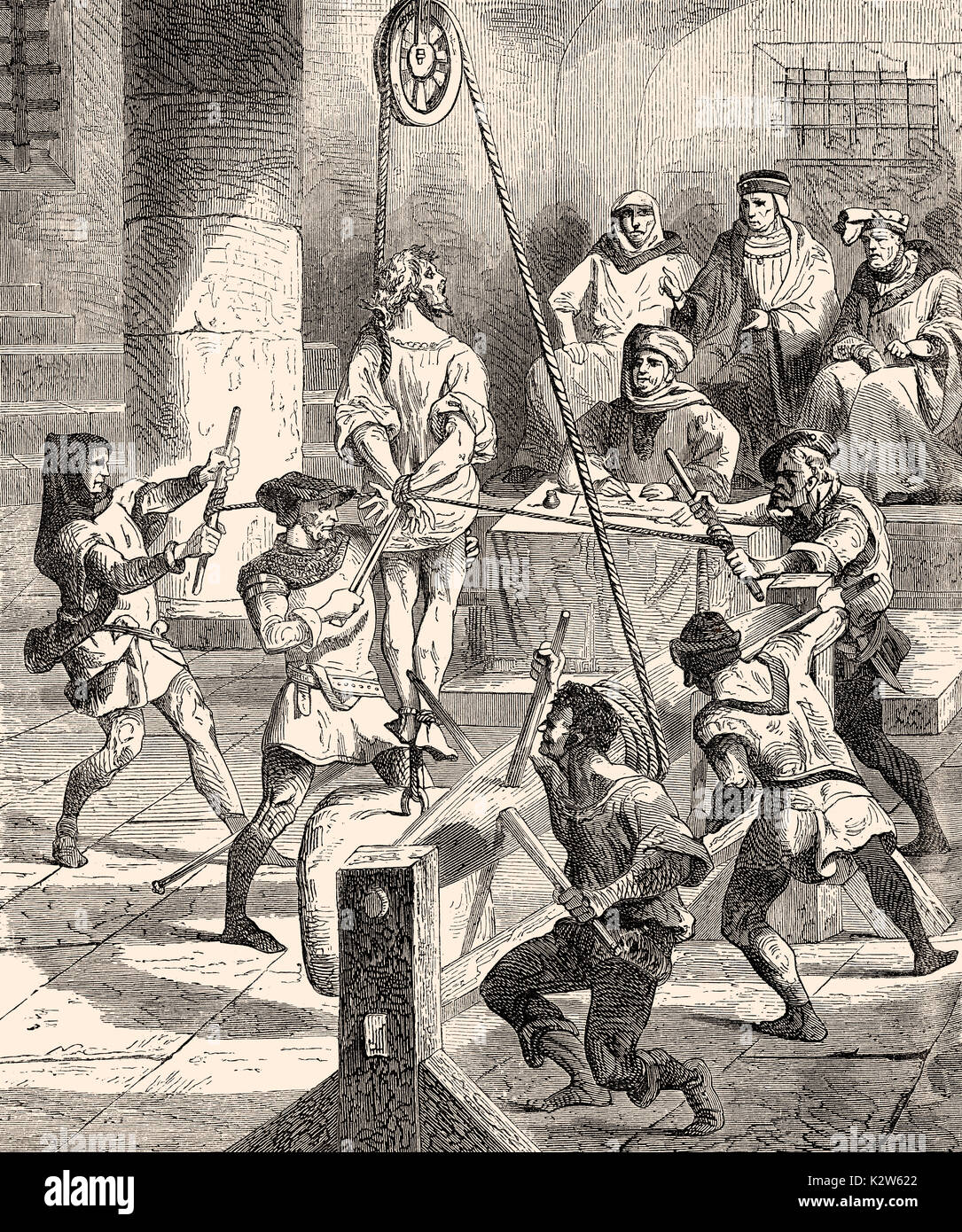 Inquisition, the cruel torture methods of the Church in the 16th century - Stock Image