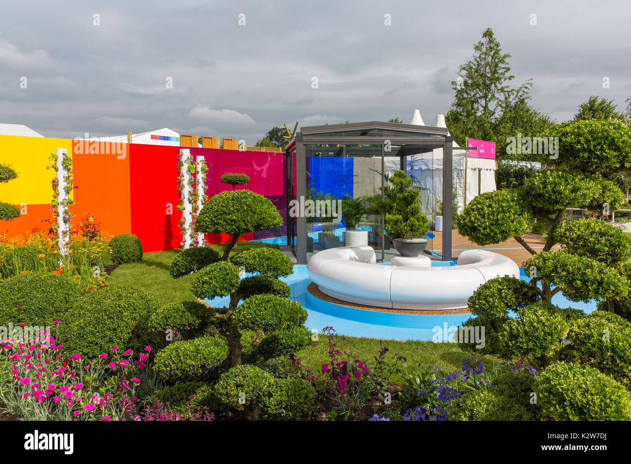 Journey of Life. RHS Hampton Court 2017.  Designer: Edward Mairis. - Stock Image
