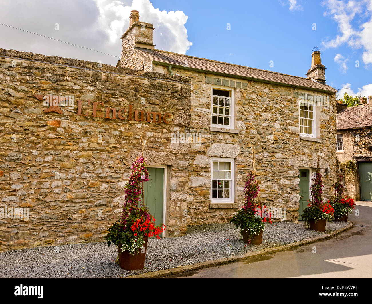 L'Enclume Michelin starred restaurant in Cartmel - Stock Image