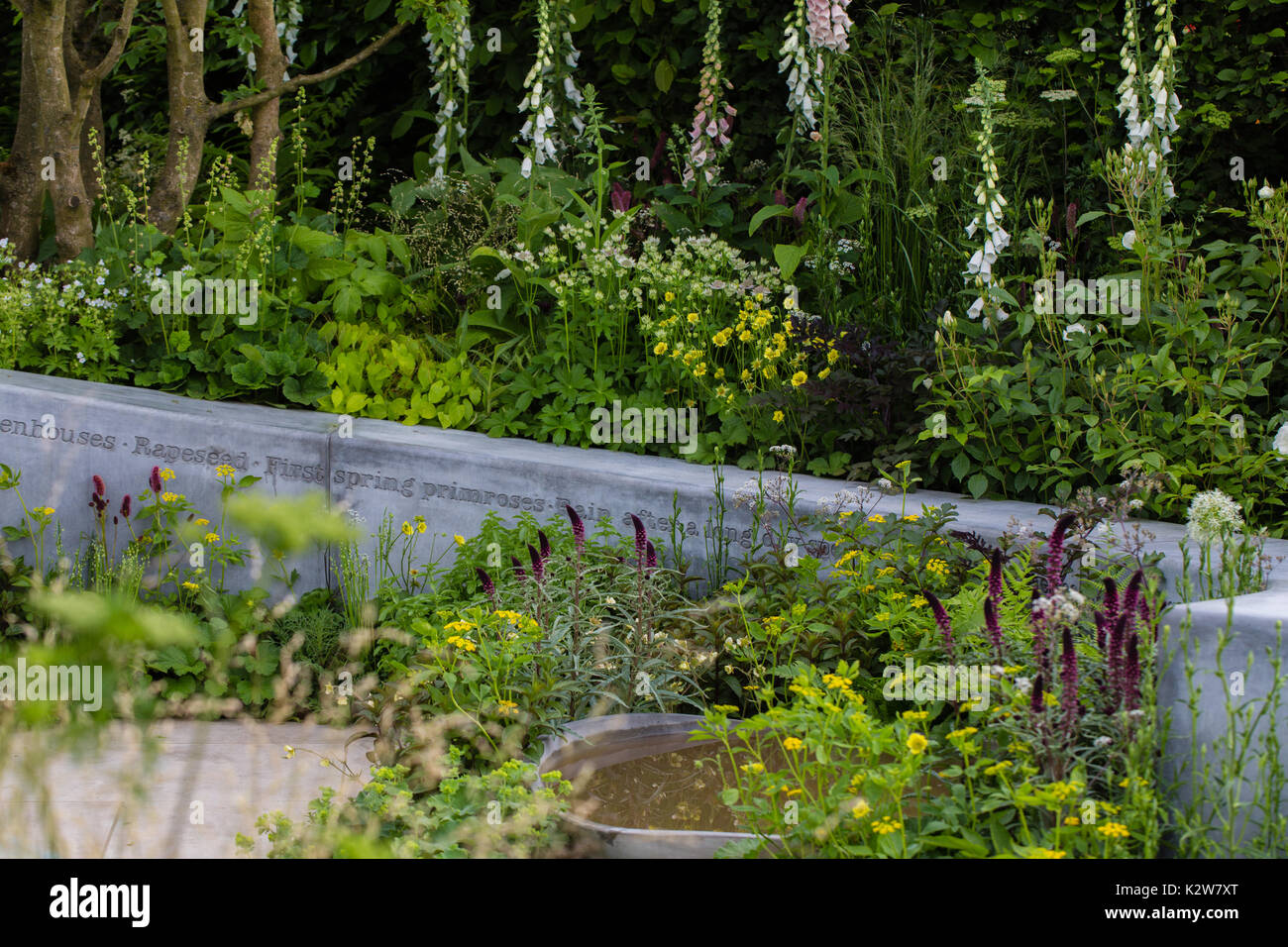 BBC Radio, The Jo Whiley Garden, designers Tamara Bridge and Kate Savill - Stock Image