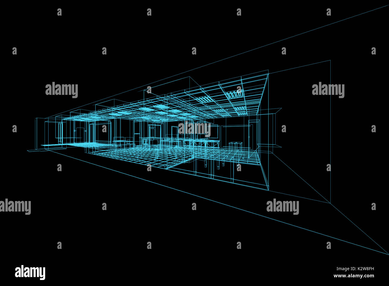 Interior blueprint on black 3d rendering stock photo 156678133 alamy interior blueprint on black 3d rendering malvernweather Choice Image