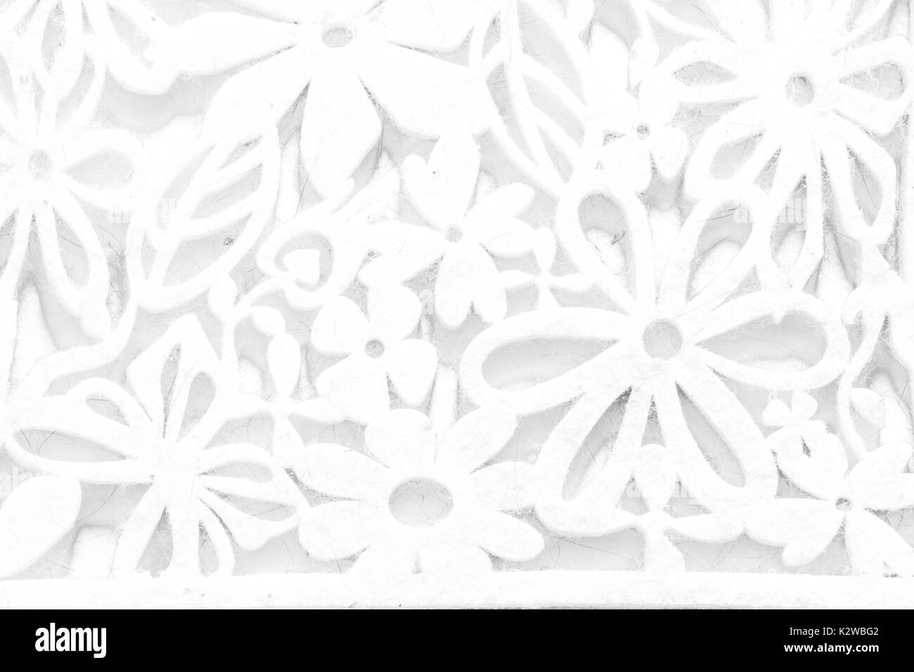 Woolen mat white texture with natural patterns can be used as background. - Stock Image
