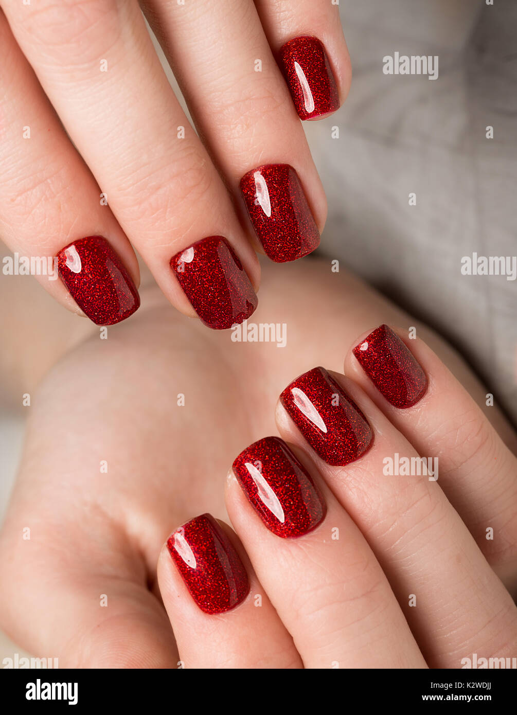 Colored Red Nails Stock Photos & Colored Red Nails Stock Images - Alamy