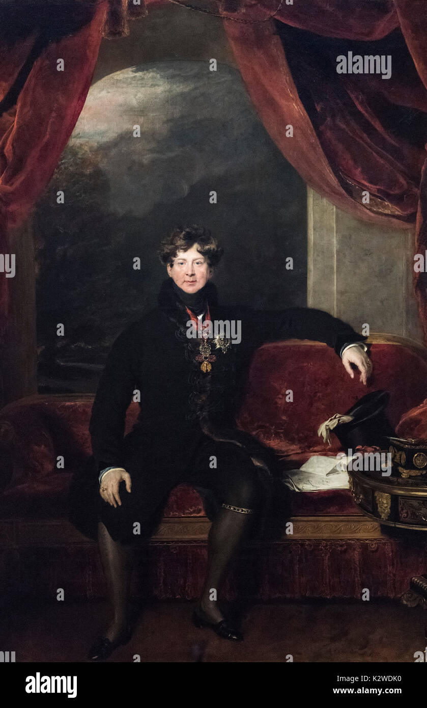 Thomas Lawrence (1769 - 1830), Portrait of King George IV (1762-1830), 1822. - Stock Image