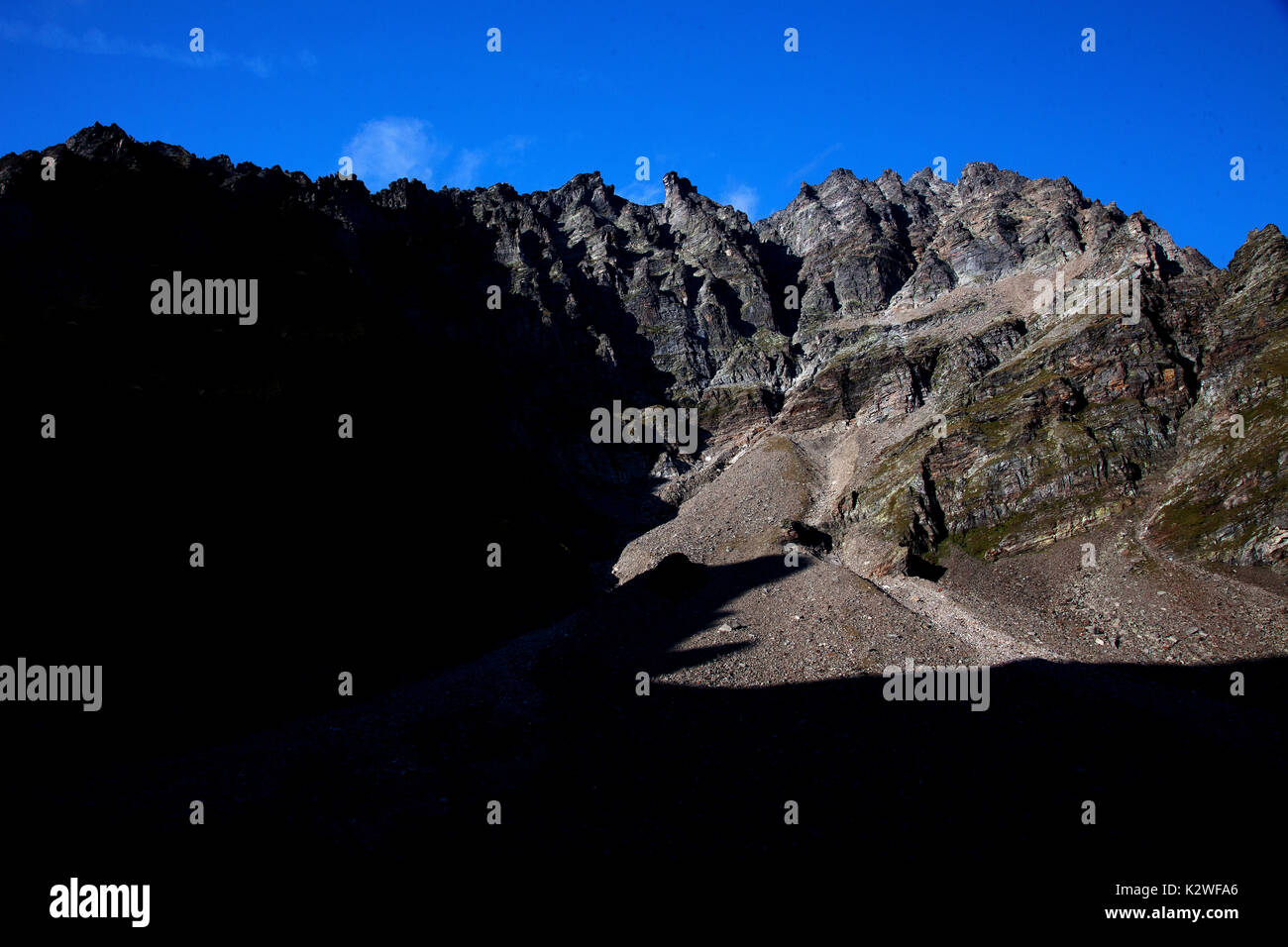 Alpe di Quarnei, Switzerland. - Stock Image