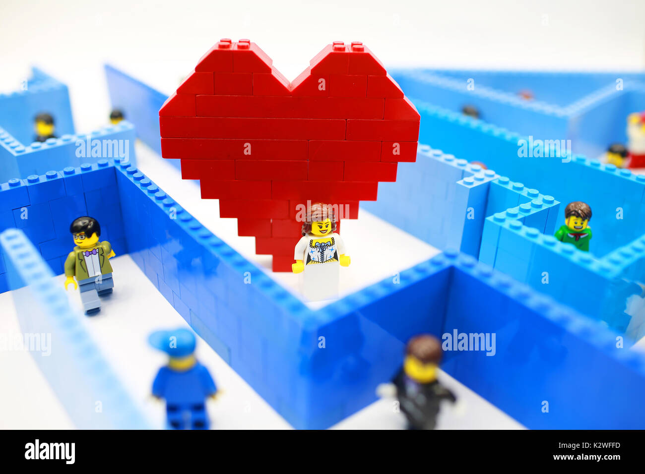 lego love hide and seek - Stock Image