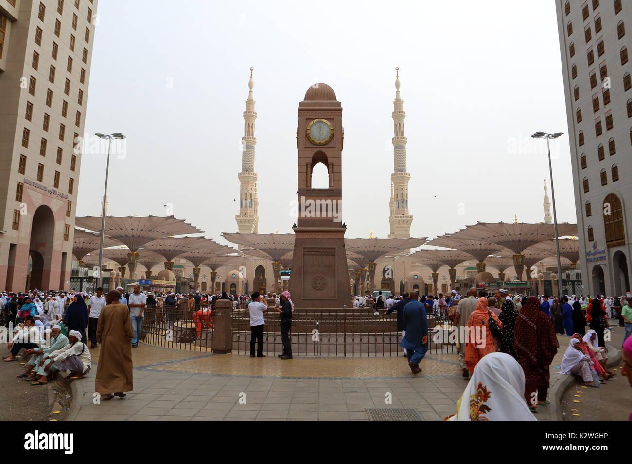 Clock tower at Medinah Munawara - Stock Image