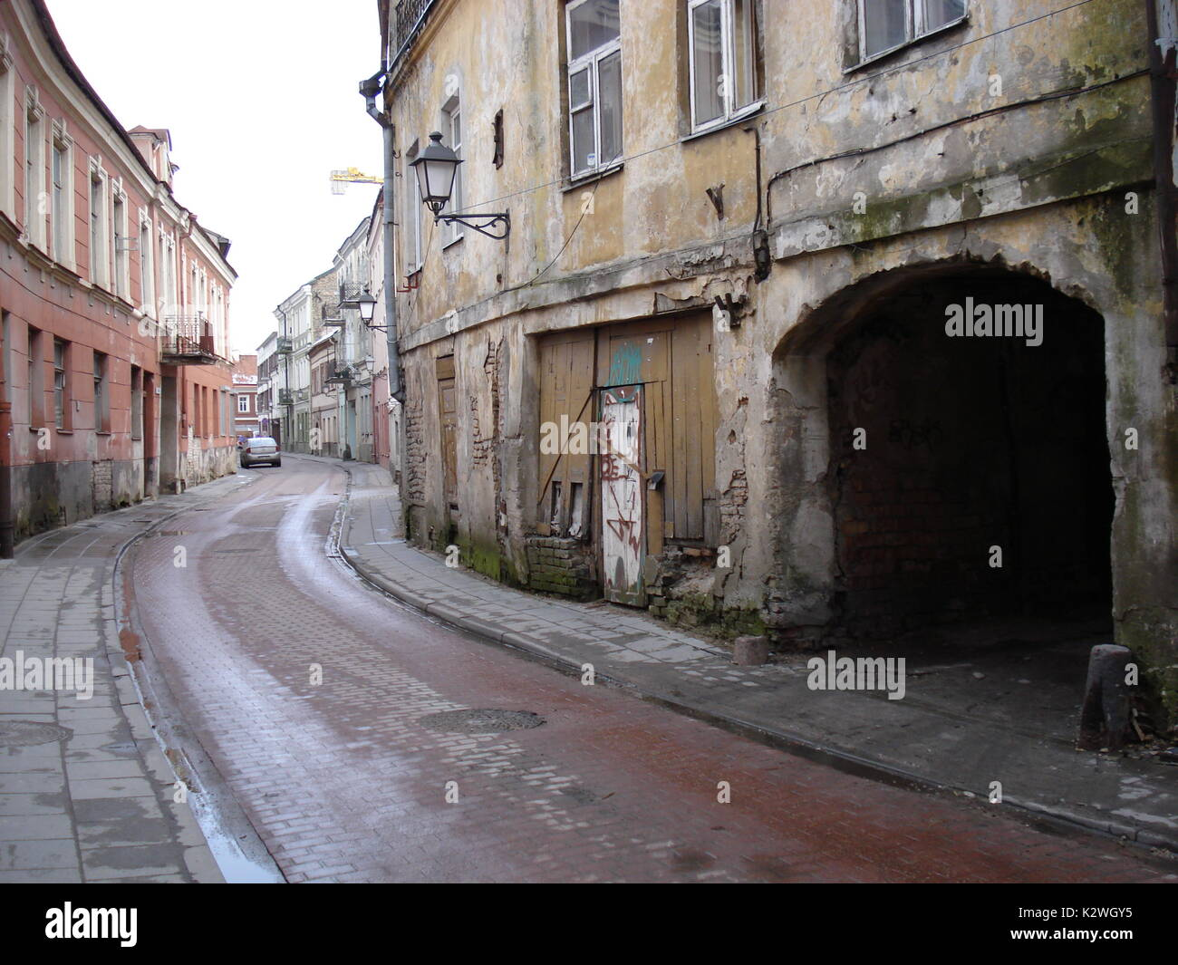 Old city of Vilnius became a jewish ghetto during world war II, under german occupation - Stock Image