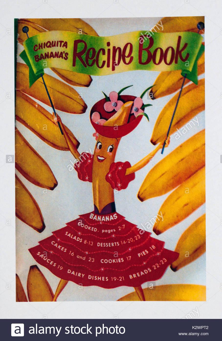Vintage food advertisement poster advertising chiquita banana recipe vintage food advertisement poster advertising chiquita banana recipe book forumfinder Choice Image