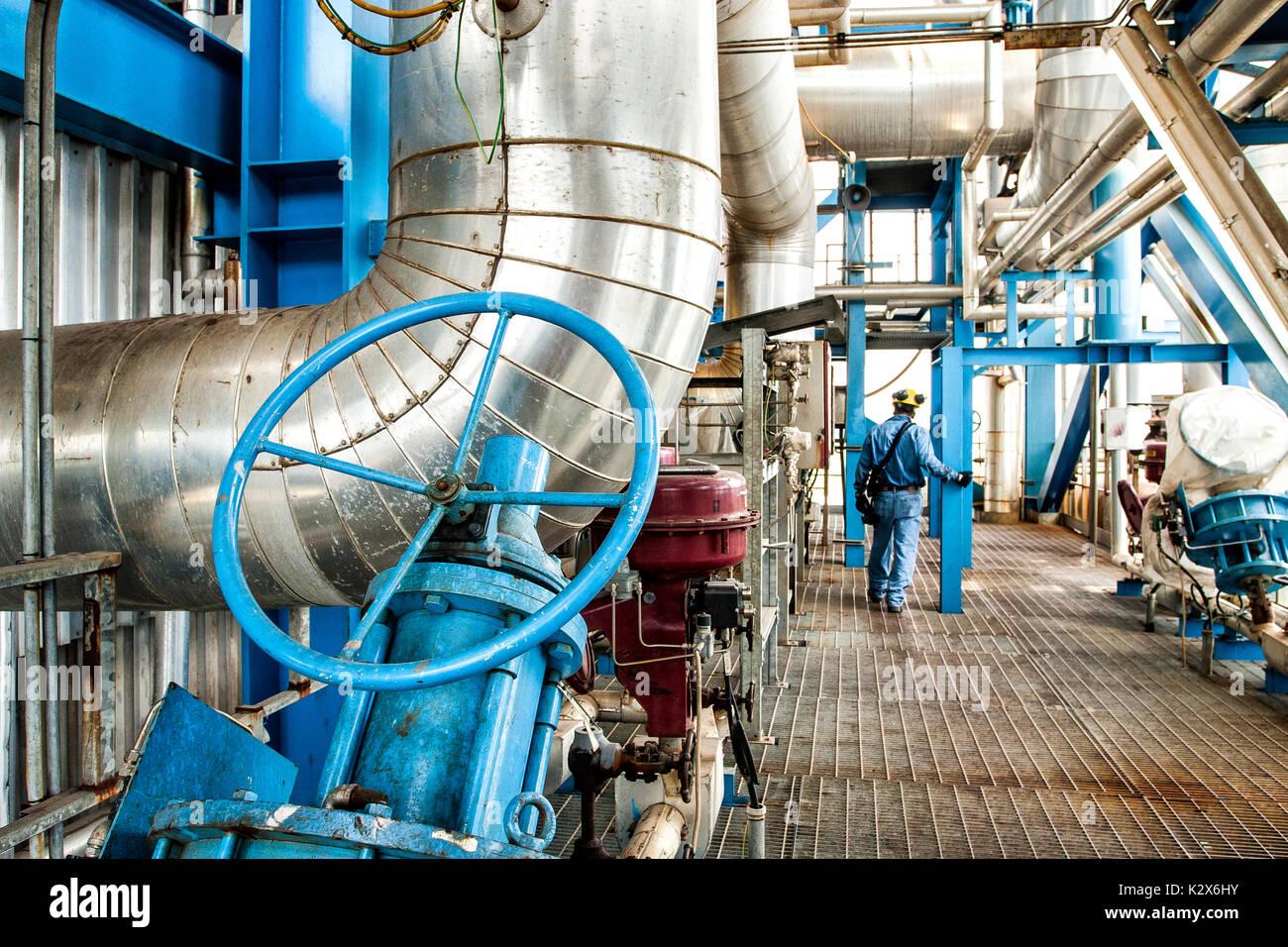 Bahia las Minas Thermal Power Plant. Colon, Panama. Stock Photo