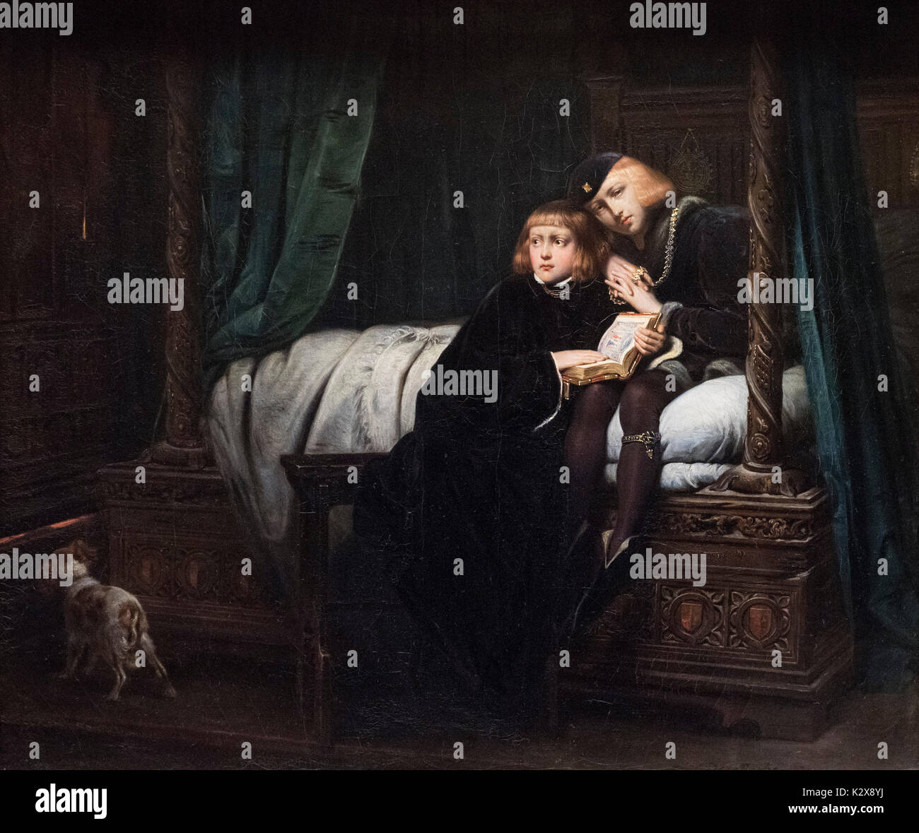 Hippolyte (Paul) Delaroche (1797-1856) , The Two Princes, Edward V and the Duke of York in the Tower of London, Stock Photo