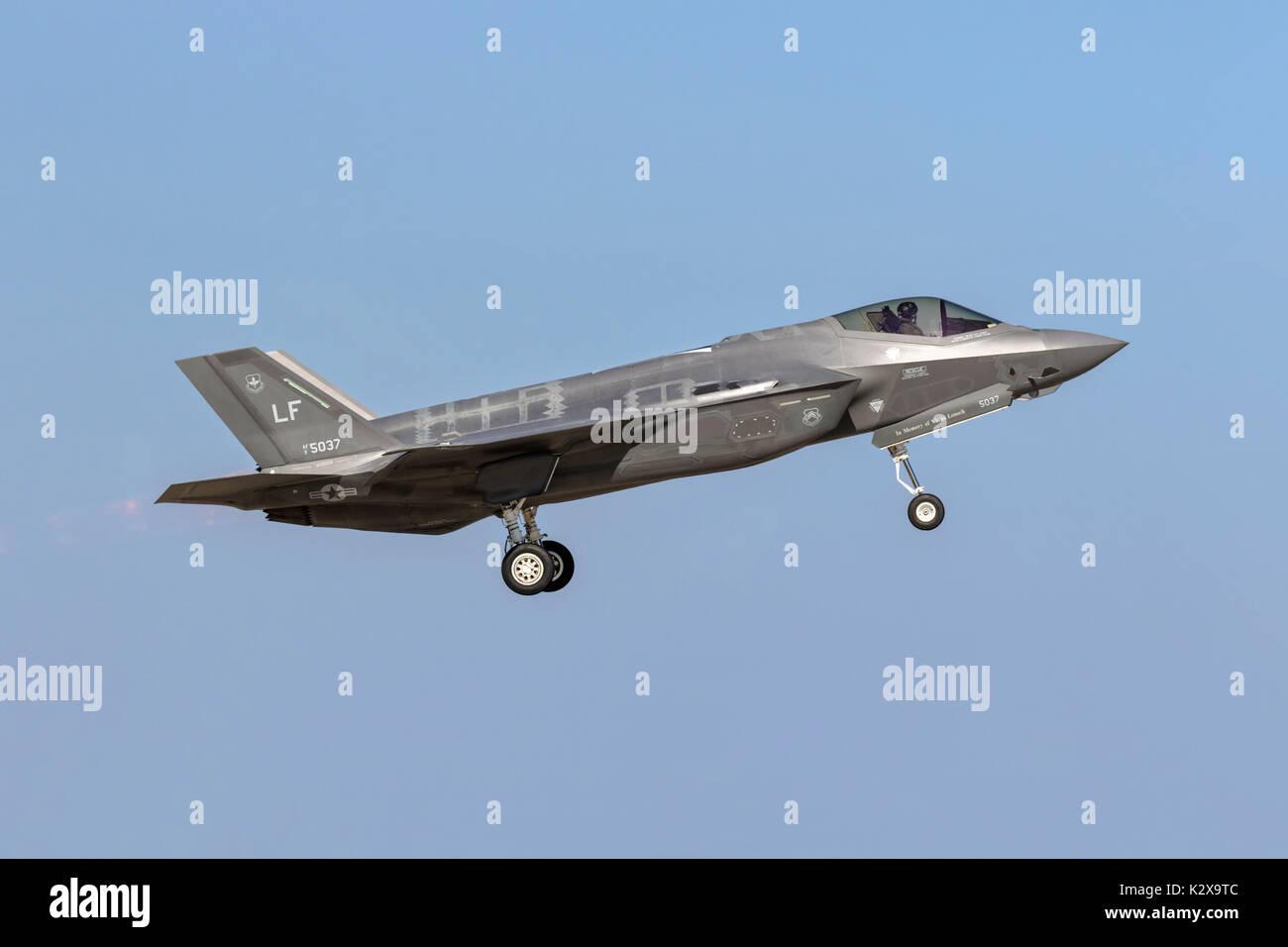 USAF Lockedd F35A Lightning - Stock Image