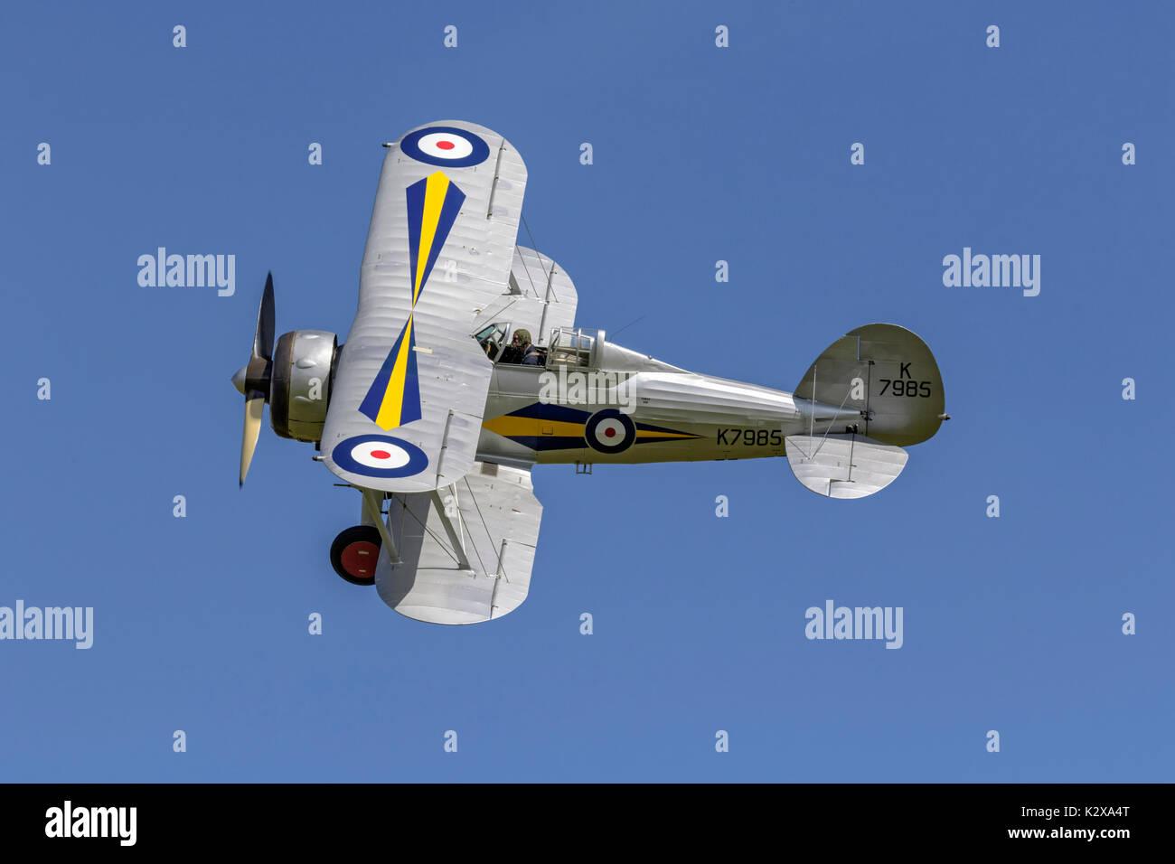 Gloster Gladiator - RAF bi-plane fighter - Stock Image