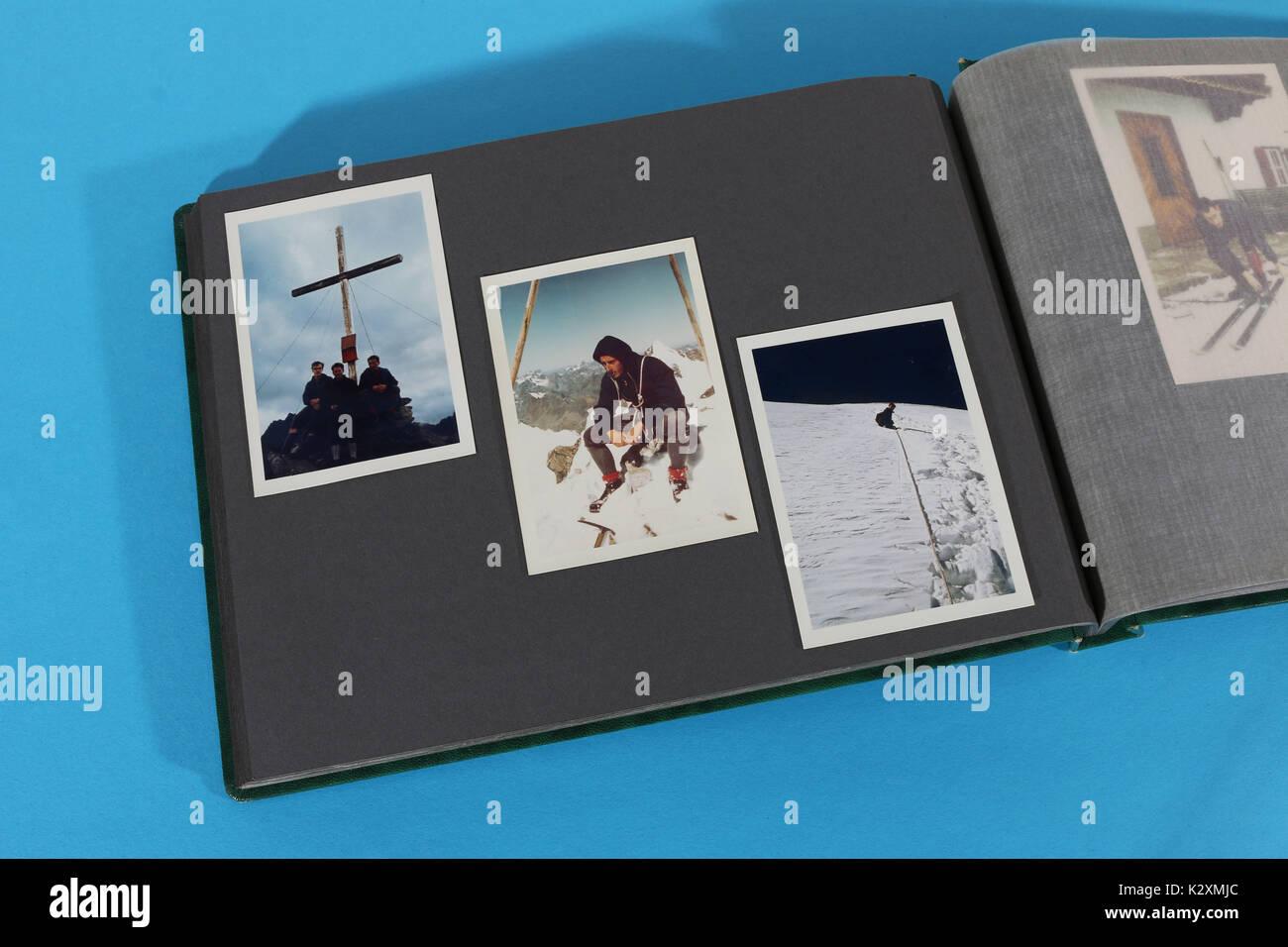 Fotoalbum, Foto, fotografieren, Album, historisch, Bergsteigen - Stock Image