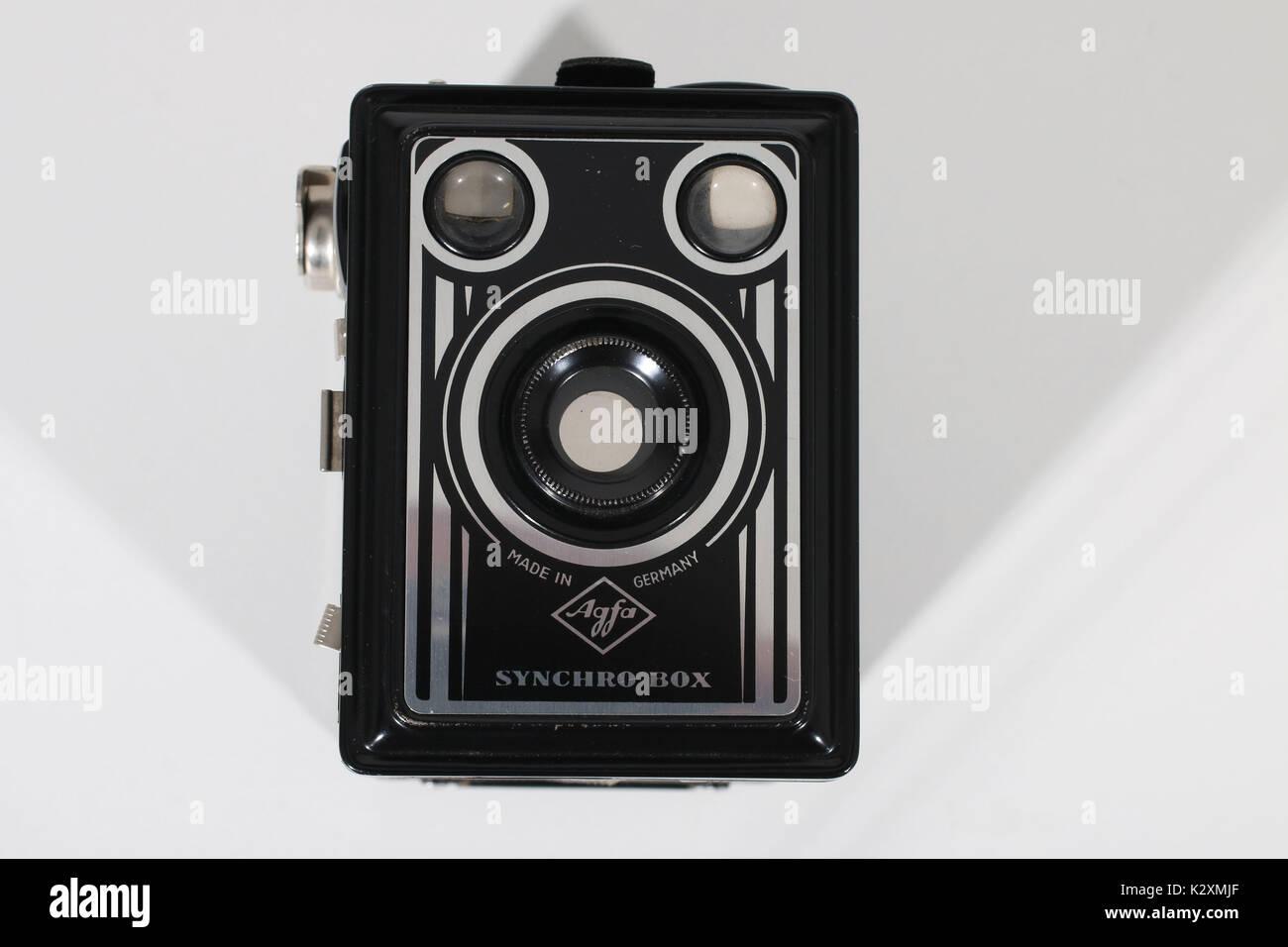 Kamera, Fotoapparat, fotografieren, historisch, Foto, Agfa, Box, Rollfilm, historisch - Stock Image